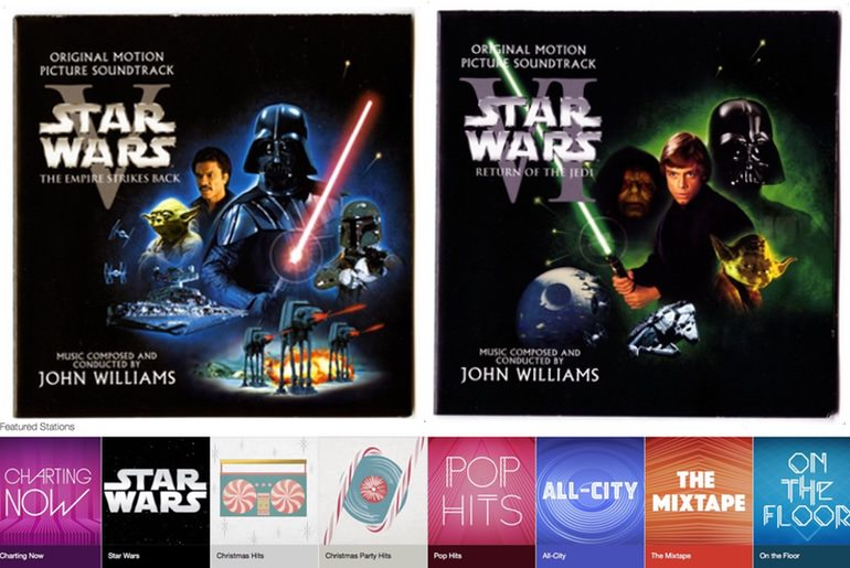 Tampilan ost Starwars di Apple Music