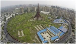 Tiruan menara Eiffel di China