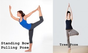 Standing Bow Pulling and Tree Pose