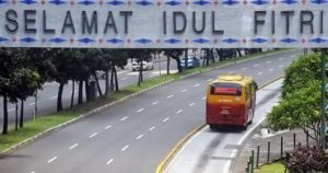 Lengangnya Jakarta saat Lebaran