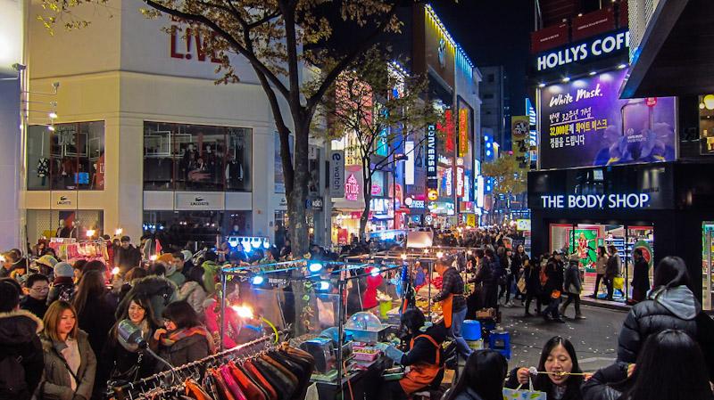 Pasar malam Myeongdong
