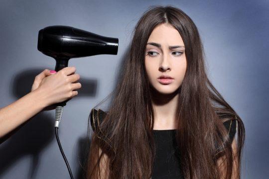 Kesalahan mengeringkan rambut