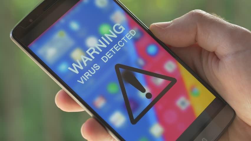 Handphone terkena virus