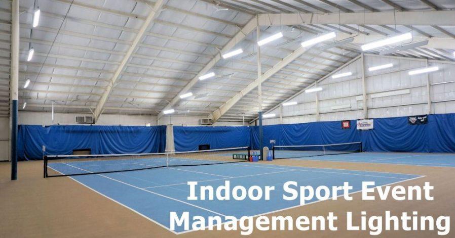 Indoor sport events managemen lighting
