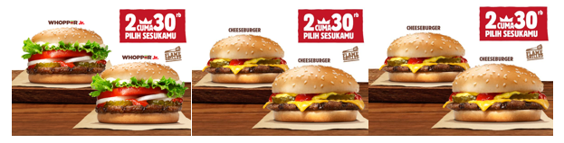 Promo Burger King, 2 Cuma 30 Ribu