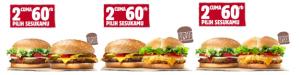 Promo Burger King, 2 Cuma 60 Ribu