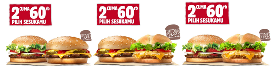 Promo Burger King, 2 Cuma 60 Ribu