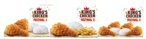 Promo Burger King, King's Chicken Festival