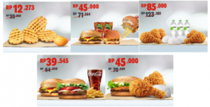 Promo Burger King, Kupon Asyik