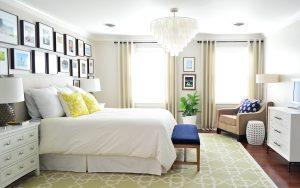 chandelier di ruang tidur